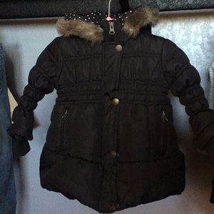 Winter Jacket /detachable Faux Fur Hood, Size 24M